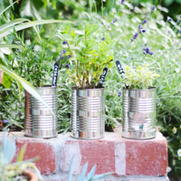 recycled tins